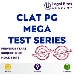 CLAT PG Mega Test Series 2021