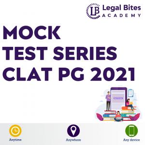 CLAT PG Mock Test Series 2021