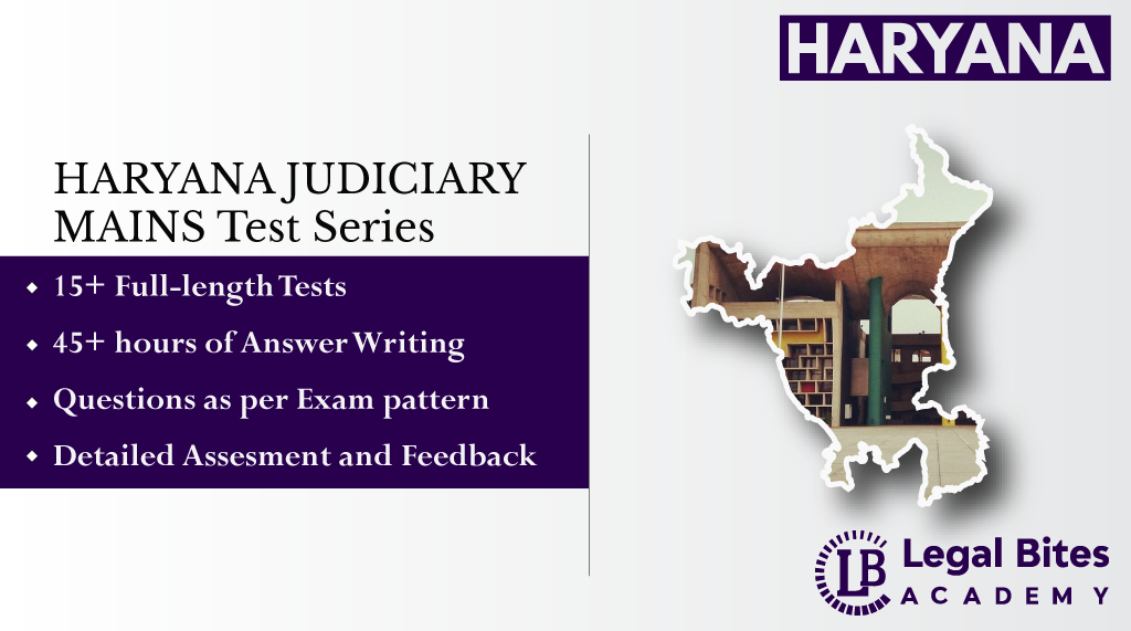 Haryana Judiciary Mains Test Series | HCS (Judicial Branch) Exam 2021