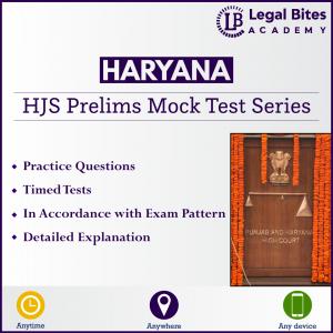 HJS Mock Test Series (Prelims) | Haryana Judicial Services