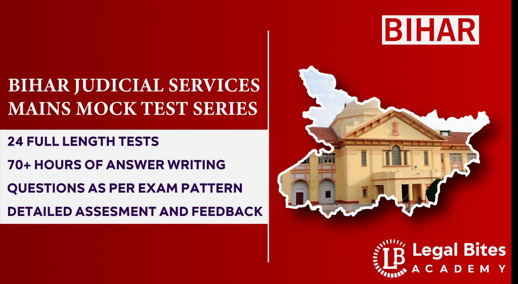 Bihar Judicial Services Mains Mock Test Series