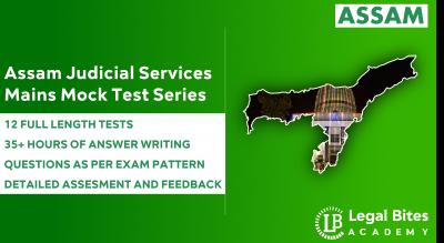 Assam Judicial Services Mains Mock Test Series