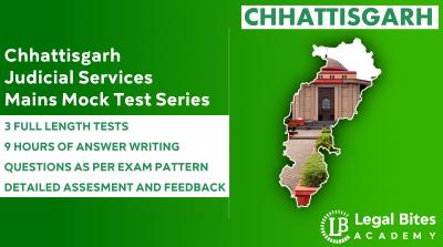 Chhattisgarh Judicial Services Mains Mock Test Series