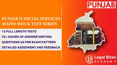 Punjab Judicial Services Mains Mock Test Series