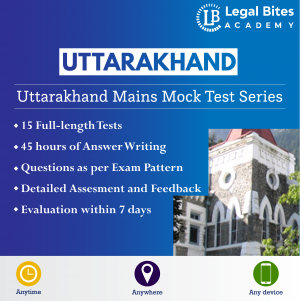 Uttarakhand Judicial Services Mains Mock Test Series