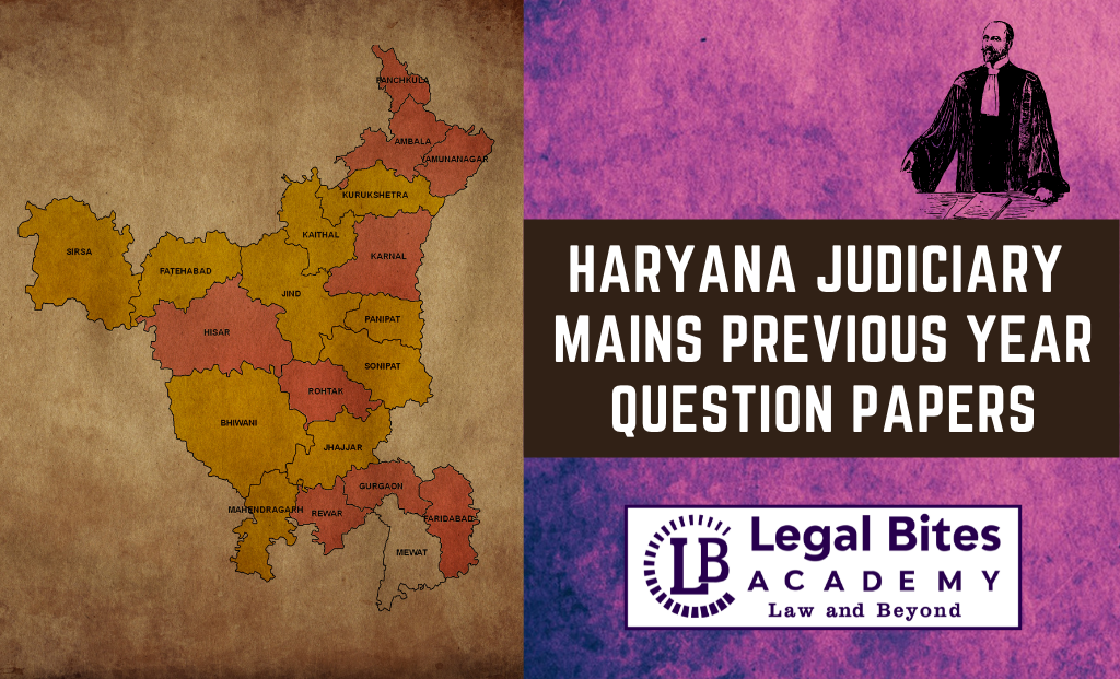 Download Haryana Judiciary Mains Previous Year Question Papers PDF