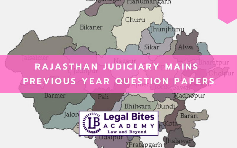 Download Rajasthan Judiciary Mains Previous Year Question Papers